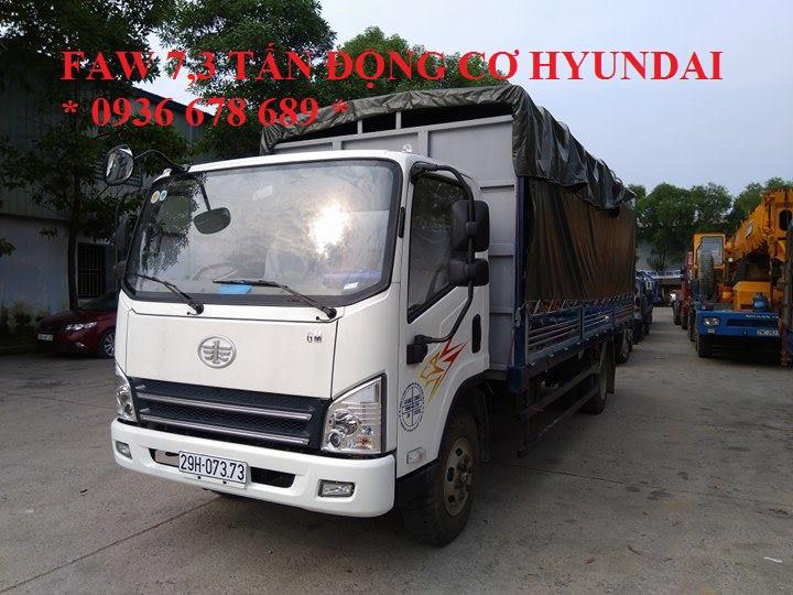 Đại lý xe tải Faw 7T3(7 tấn 3)-Faw 7.3 tấn-Faw 7,3 tấn động cơ Hyundai, thùng dài 6m25