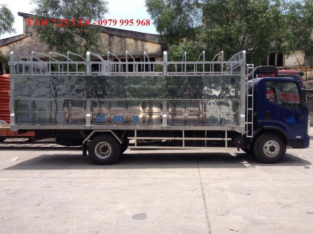 Đại lý xe tải Faw 7T25(7 tấn 25)-Faw 7.25 tấn-Faw 7,25 tấn động cơ 140 mã lực, thùng dài 6m3