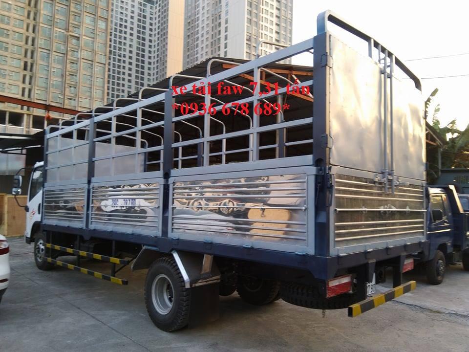 Đại lý xe tải Faw 7T31(7 tấn 31)-faw 7.31 tấn-faw 7,31 tấn, thùng dài 6,25m, máy khỏe, đời mới nhất