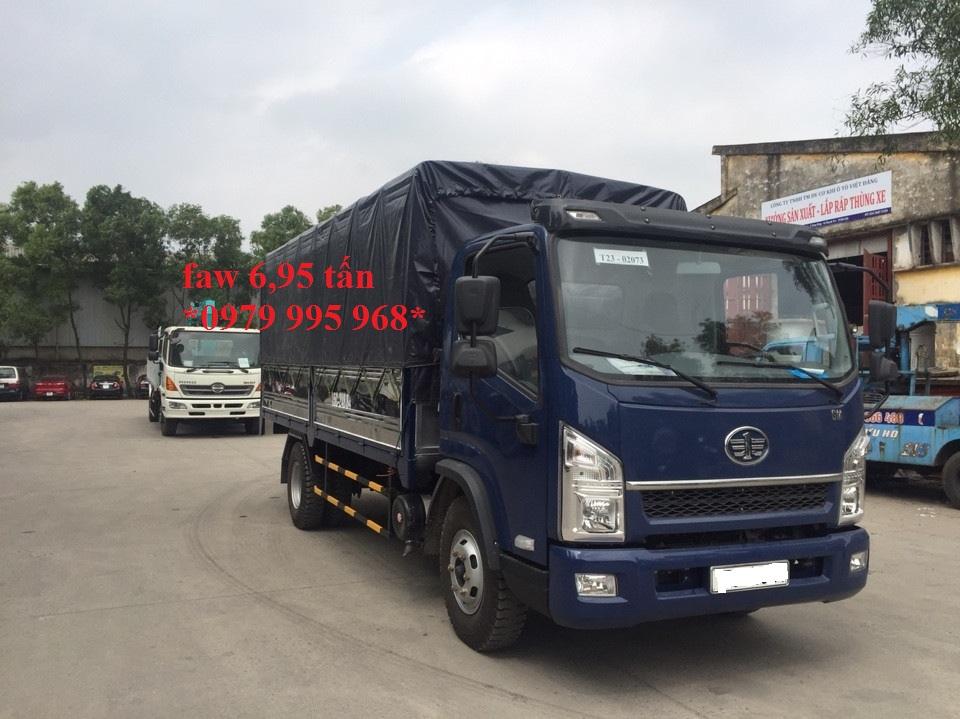 Đại lý bán xe tải Faw 6T95 (6 tấn 95)-Faw 6.95 tấn-Faw 6,95 tấn thùng dài 5,1m, giá rẻ nhất