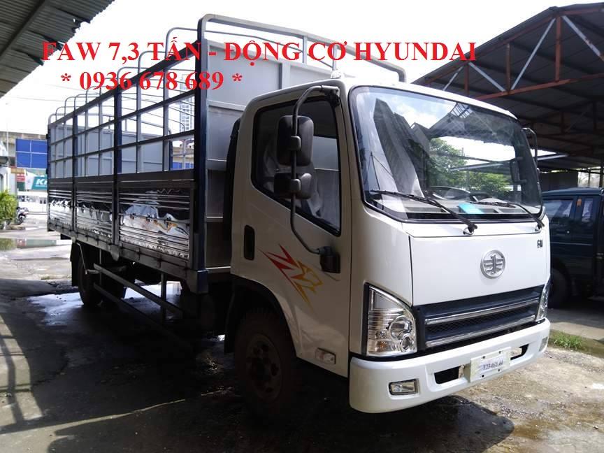 Xe tải faw 7,3 tấn động cơ hyundai nhập khẩu Hàn Quốc - xe faw 7.3 tấn thùng dài 6m25