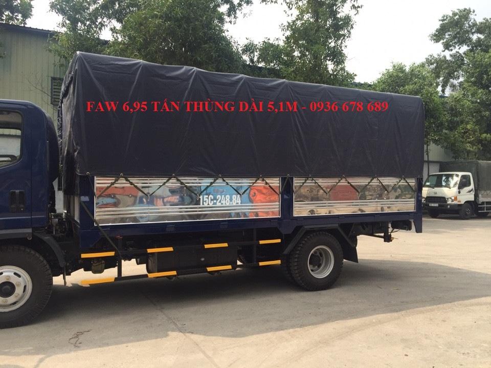 Bán xe tải faw 6,95 tấn thùng dài 5m1.Giá rẻ nhất thị trường