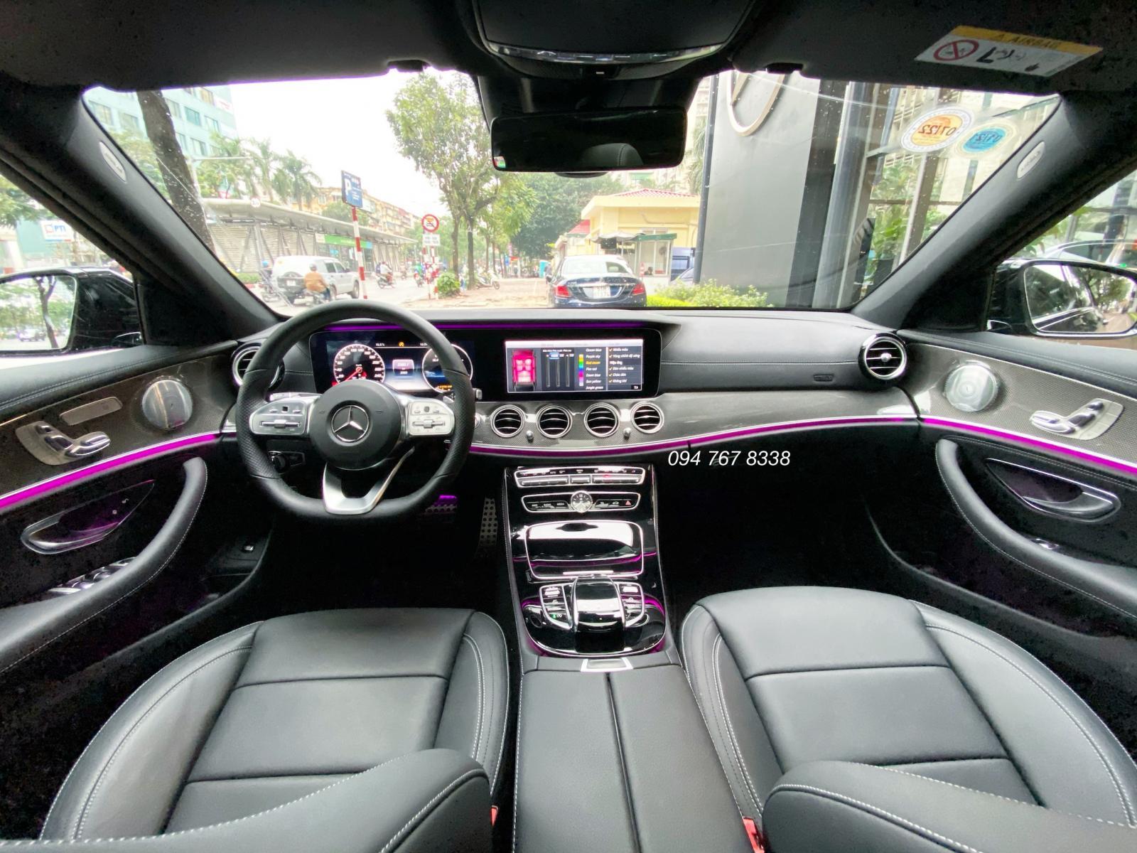 xe lướt chính hãng - Mercedes E300 2020 màu đen chạy 3.000km, giá cực tốt