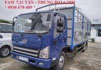 Xe tải Faw 7,31 tấn cabin Isuzu thùng dài 6,25m. Hỗ trợ vay ngân hàng tối đa giá 415 triệu tại Hà Nội