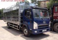 Đại lý xe tải Faw 7T25(7 tấn 25)-Faw 7.25 tấn-Faw 7,25 tấn động cơ 140 mã lực, thùng dài 6m3 giá 458 triệu tại Hà Nội
