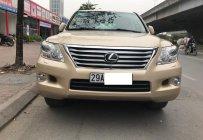 Bán ô tô Lexus LX 570 đời 2009, màu vàng, nhập khẩu Mỹ giá 2 tỷ 980 tr tại Hà Nội