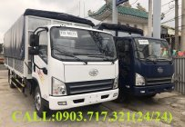 Công ty bán xe tải  Faw 7T3 – 7Tấn3 – 7300kg thùng mui bạt ga cơ máy Hyundai 4.0 giá 560 triệu tại Cần Thơ
