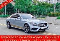 QUỐC DUY AUTO - BÁN MERCEDES C300 AMG BẠC/ĐEN 2019 - TRẢ TRƯỚC 550 TRIỆU NHẬN XE giá 1 tỷ 469 tr tại Tp.HCM