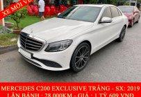 Quốc Duy Auto - Mercedes Benz C200 Exclusive trắng/đen 2020 sang - trả trước 650 triệu nhận xe ngay giá Giá thỏa thuận tại Tp.HCM