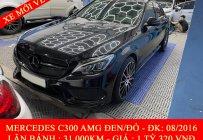 QUỐC DUY AUTO - MERCEDES C300 AMG ĐEN/ĐỎ 2016 ĐẸP - TRẢ TRƯỚC 450 TRIỆU NHẬN XE NGAY giá 1 tỷ 320 tr tại Tp.HCM